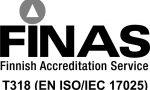bestLab on FINAS–akkreditointipalvelun akkreditoima testauslaboratorio T318, akkreditointivaatimus SFS-EN ISO/IEC 17025:2005.
